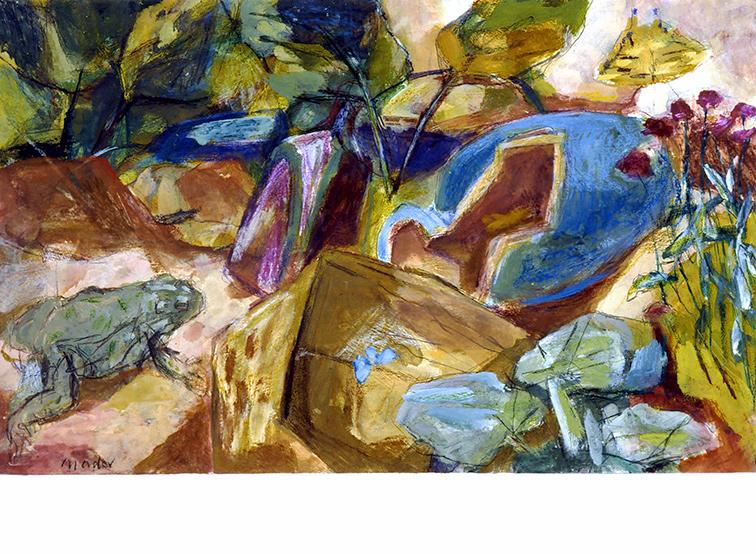 Frosch und Vase Joseph Mader