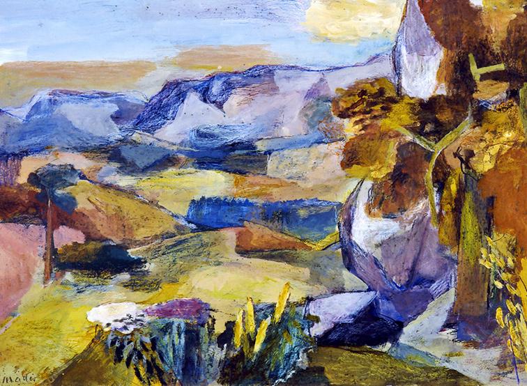 Landschaft Sonne Joseph Mader
