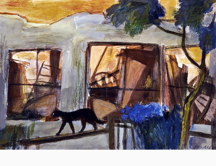 Katze Ruinen Joseph Mader