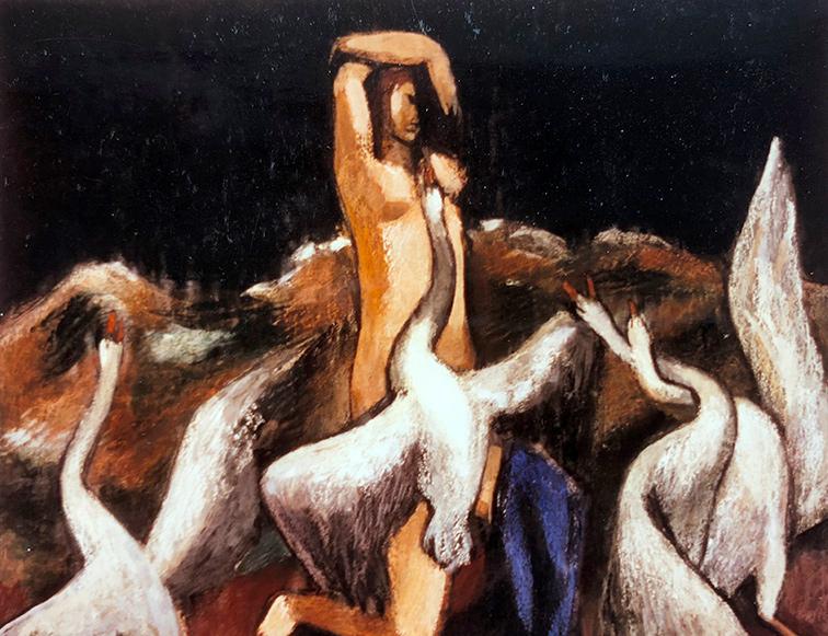 Leda Mischtechnik 1933 Joseph Mader