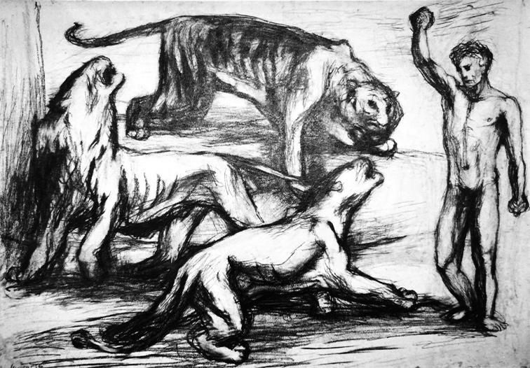 Tigerbändiger Bleistift 1936