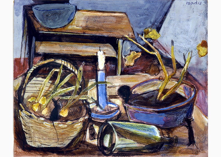 Kerzenständer Flasche Maler Joseph Mader